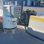 A stationary marine vacuum pump. High suction power for marine sewage