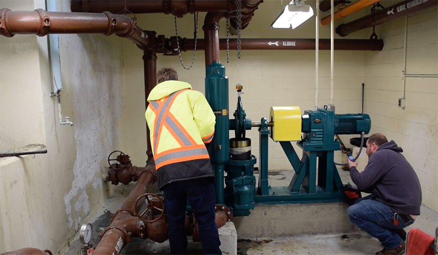 Plunger Pump Installation in central PA.
