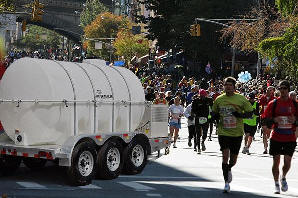 drinking water station for marathon