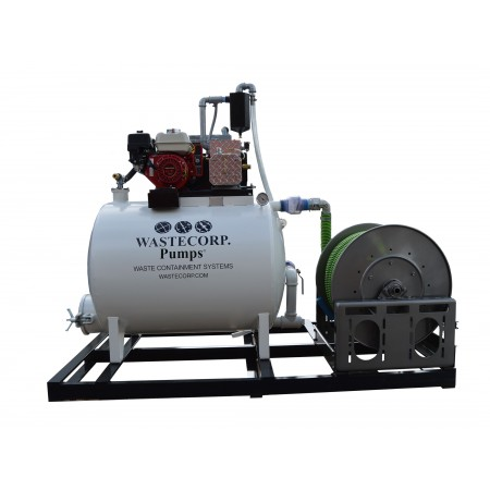 200/100 Gallon Skid Mounted Dual Compartment Vacuum Pump