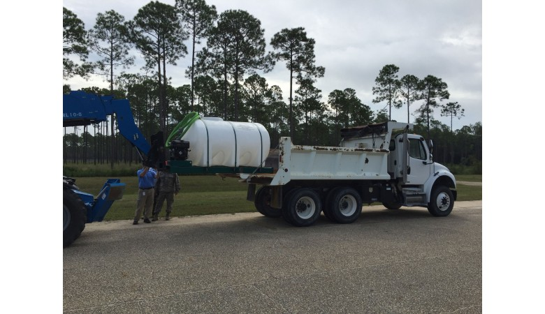 2600 Gallon Skid Mounted Water Trailer
