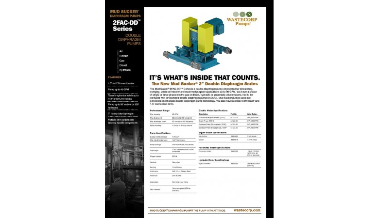 2FAC-DD Series Double Diaphragm Pump Facts