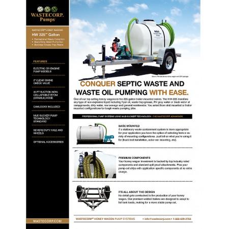 325 Gallon Honey Wagon Fact Sheet