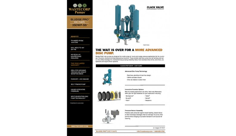 3SDWP Space Saver Clack Valve Fact Sheet