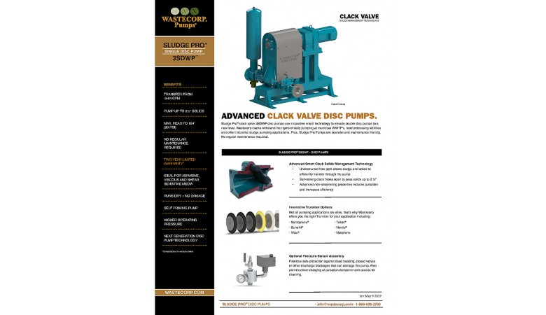 3SDWP Clack Valve Fact Sheet