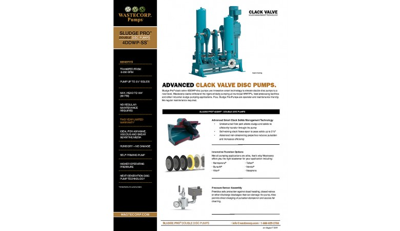 4DDWP Space Saver Clack Valve Fact Sheet
