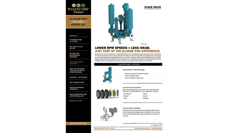 4SDWP Space Saver Clack Valve Fact Sheet