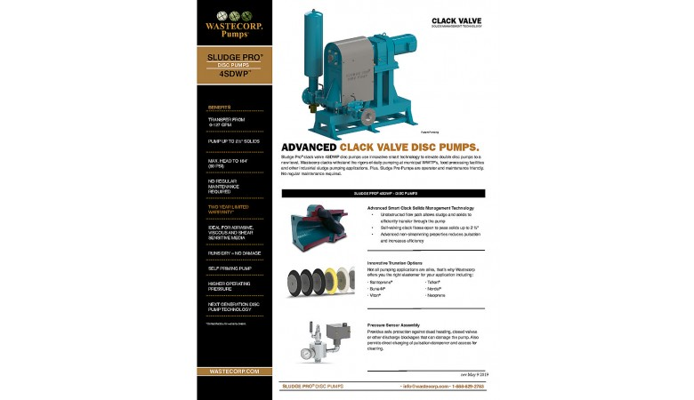 4SDWP Clack Valve Fact Sheet