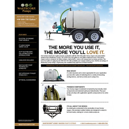 525 Gallon Pump Out Fact Sheet