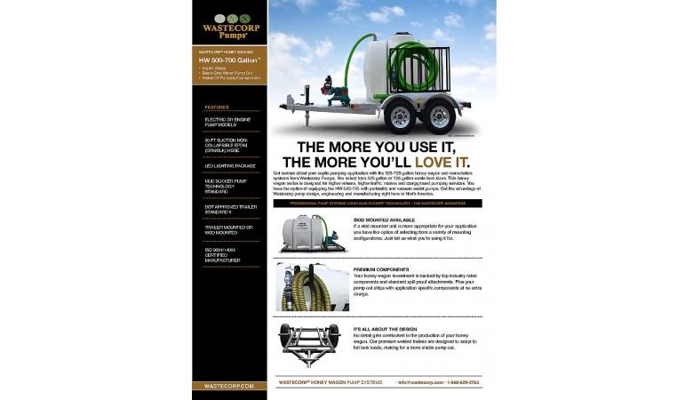 525 Gallon Pump Out Fact Sheet
