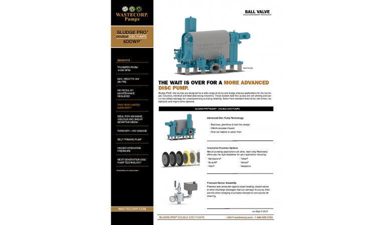 6DDWP Ball Valve Fact Sheet