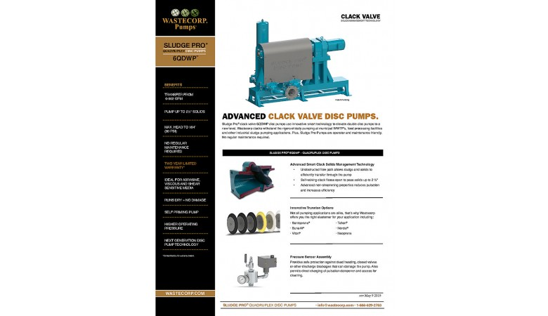 6QDWP Clack Valve Fact Sheet