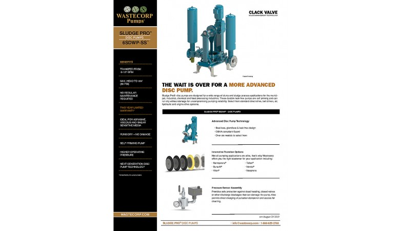 6SDWP Space Saver Clack Valve Fact Sheet