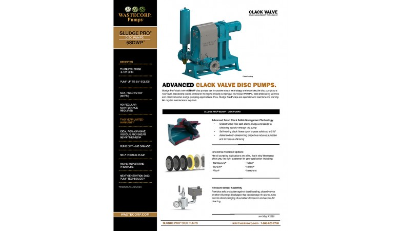 6SDWP Clack Valve Fact Sheet