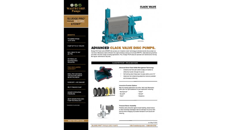 6TDWP Clack Valve Fact Sheet