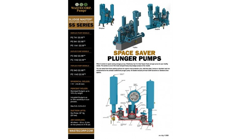 Space Saving Sewage Pumps Fact Sheet