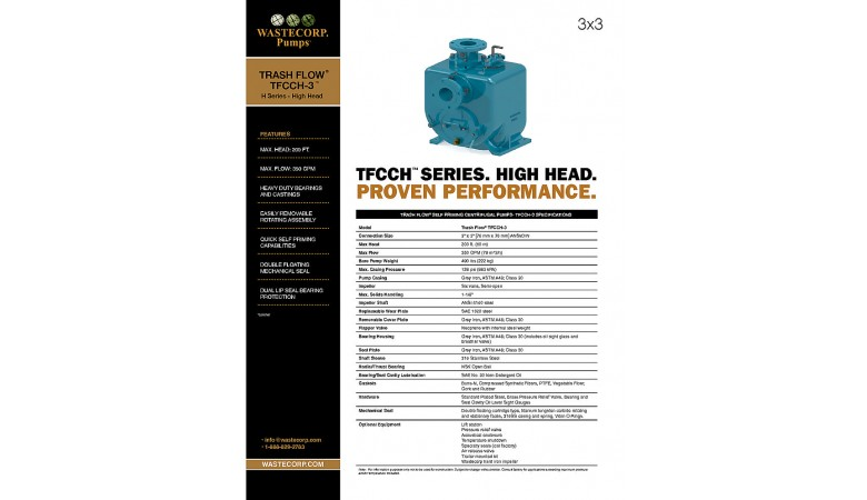 TFCCH-3 High Head Fact Sheet