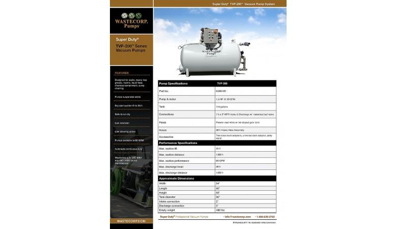 TVP-200 Vacuum Pump