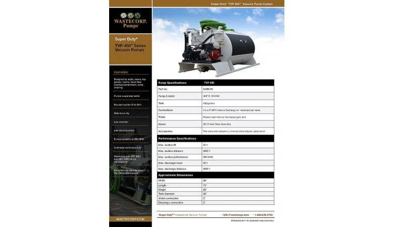 TVP-450 Vacuum Pump