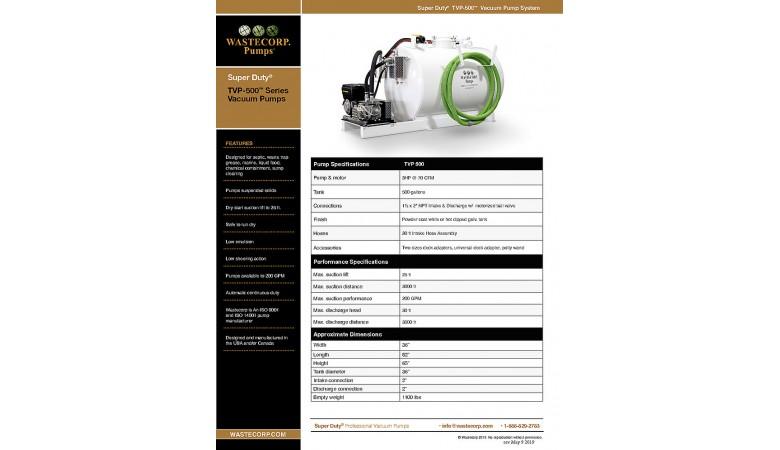 TVP-500 Vacuum Pump