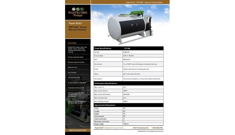 TVP-600 Vacuum Pump