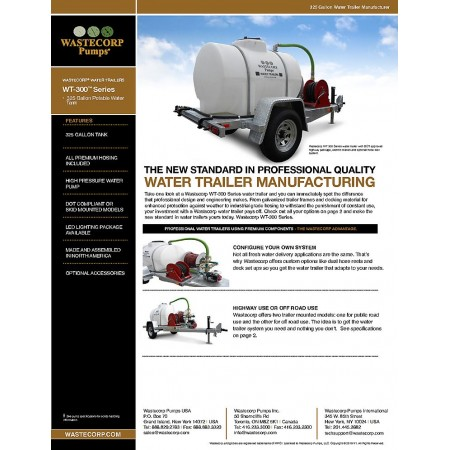 325 Gallon Water Trailer Fact Sheet