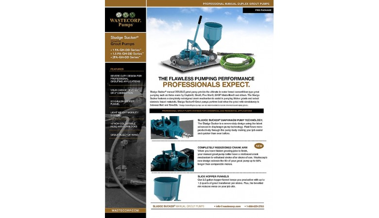 Double Grout Pump PRO Package Fact Sheet