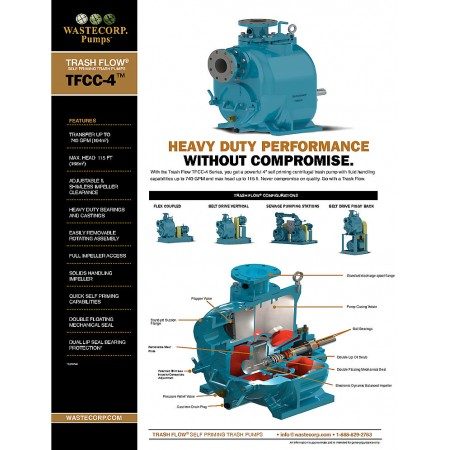 4 Inch Trash Pump Fact Sheet