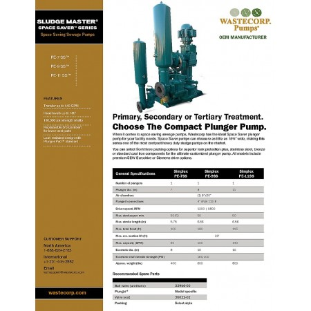 Space Saving Sewage Pumps Brochure