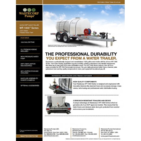 1025 Gallon Water Wagon Brochure